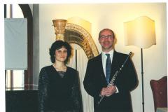 con il flautista Gino Maini