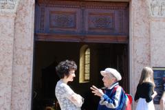 con l'arpista Mirella Vita a Trento