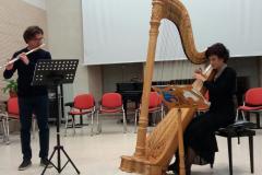 Con il flautista Emilio Galante
