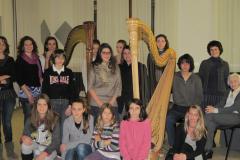con la classe del Conservatorio di Trento durante il Master di Elisabeth Fontan Binoche 2011