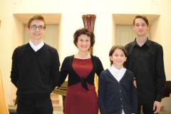 Con i miei tre allievi del Conservatorio di Trento 2016