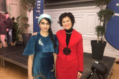 Con l'allieva iraniana Shamim Minoo