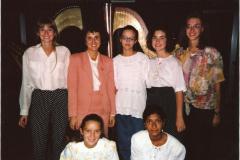 Con le allieve ai Corsi estivi di Verbania 1992